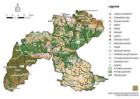 Územie MAS Tatry - Pieniny LAG a zaujímavosti v území